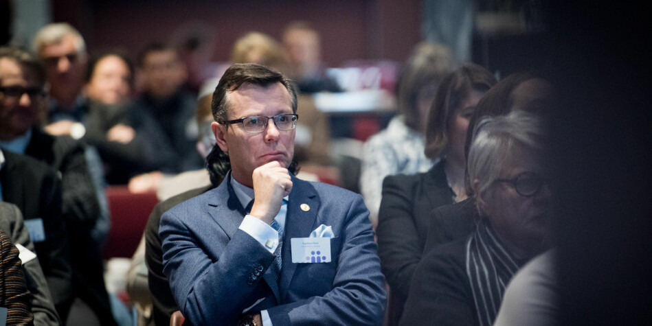 Rektor Dag Rune Olsen ved Universitetet i Bergen kan bli