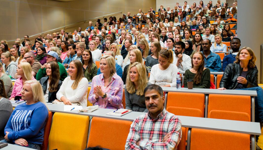 Sykepleierutdanningen ved OsloMet er blant landets største.