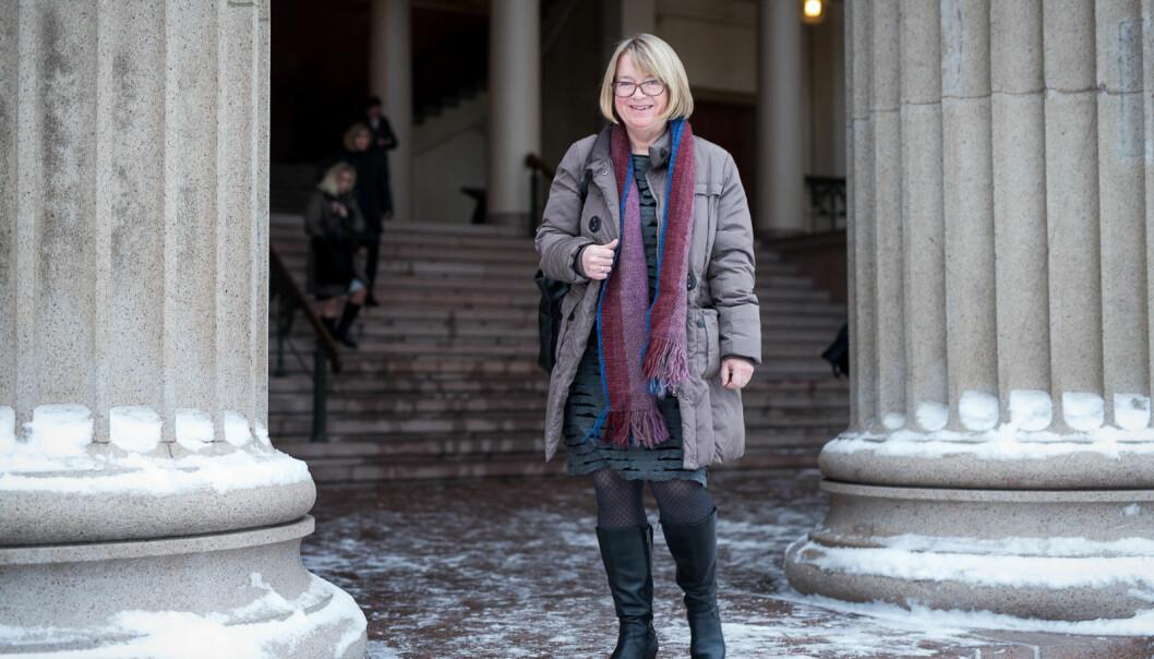 Berit Kjeldstad har flere år bak seg som leder i akademia. Her er hun fotografert i forbindelse med Kontaktkonferansen 2016, da hun var prorektor på NTNU.