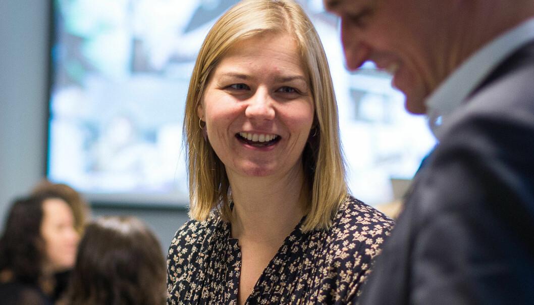 Kunnskapsminister Guri Melby er fornøyd med mange av svarene som kommer fram når ordningen med lærerspesialister evalueres.