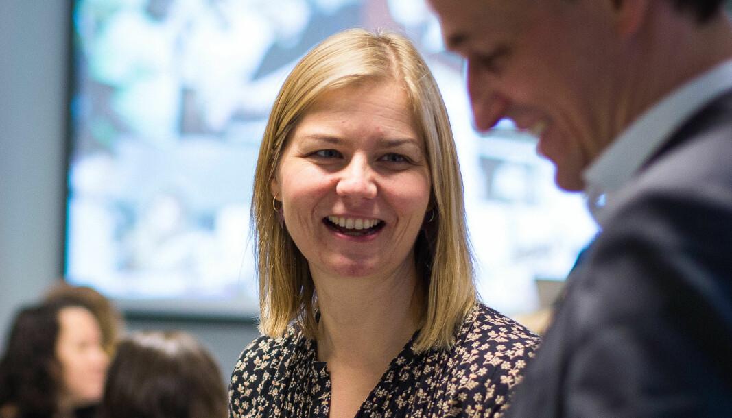 Kunnskapsminister Guri Melby er fornøyd med at man på sikt har god tilgang til det beste for skoler og barn.
