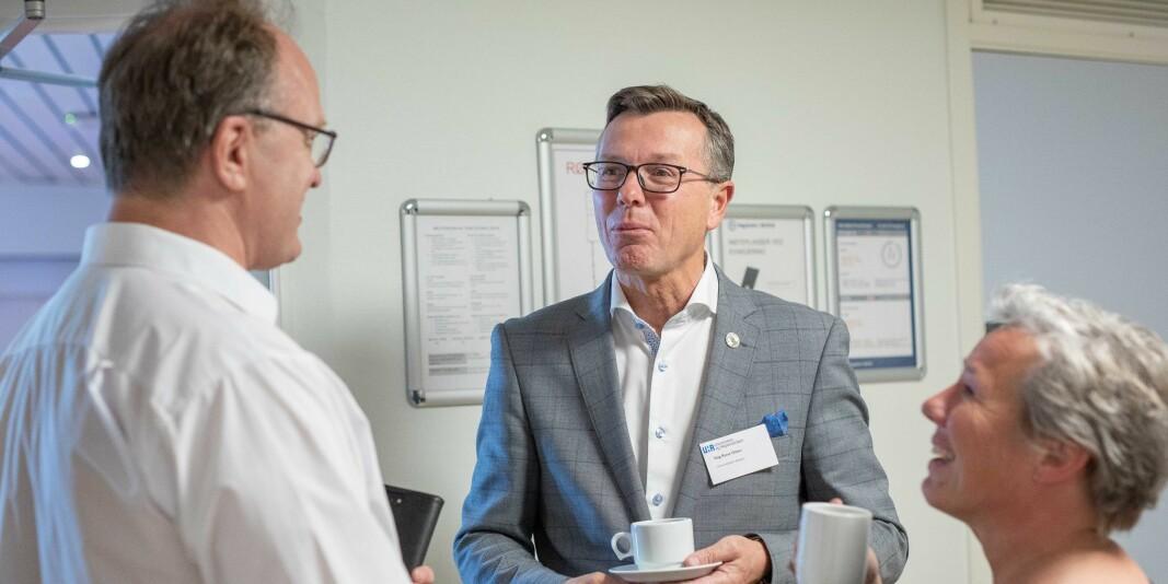 Dag Rune Olsen er rektor ved UiB og leder styret i Universitets- og høgskolerådet. Her på representantskapsmøte i regi av UHR på Høgskolen i Østfold.