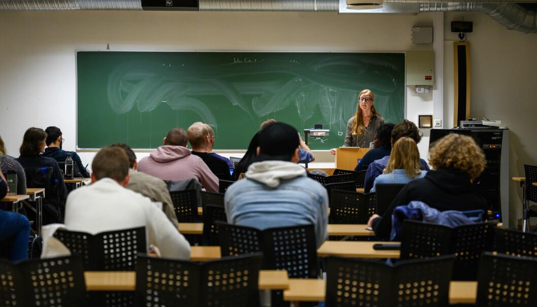 Filosofiforelesning ved NTNU. I denne saken kan du finne lønnsoversikten til en rekke stillingskategorier.