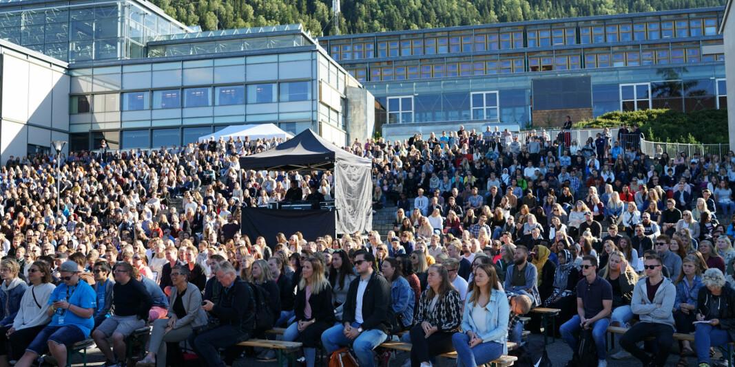 Høgskulen i Innlandet la ut fødselsnummer og namn på 21 potensielle studentar i sine postjournalar. Bilete er frå studiestart på studiestad Lillehammer for nokre år sidan.