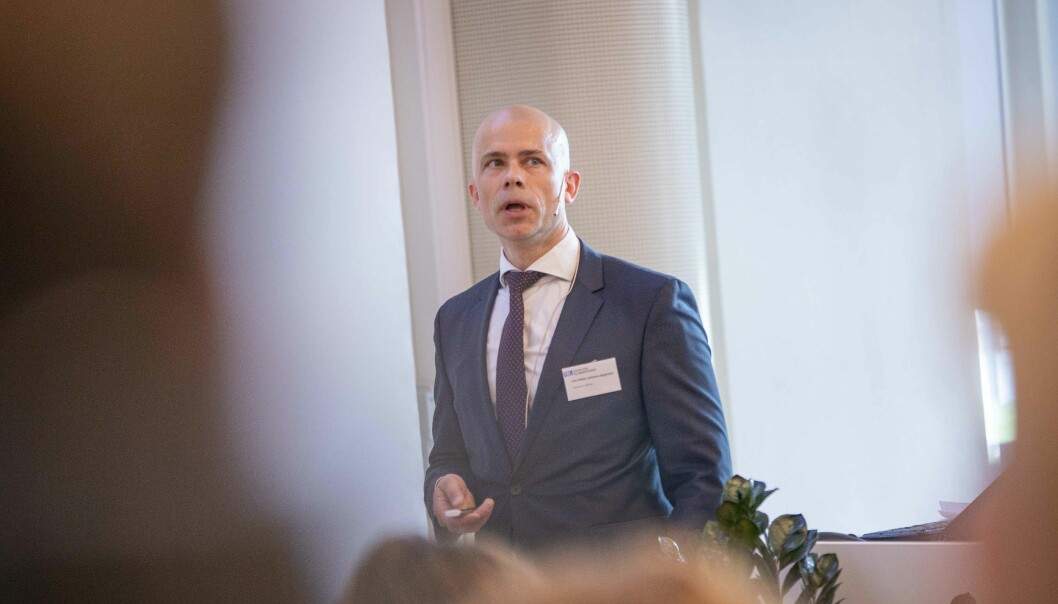Lars-Petter Jelsness-Jørgensen er en av tre søkere til stillingen som rektor ved Høgskolen i Østfold fra august neste år.