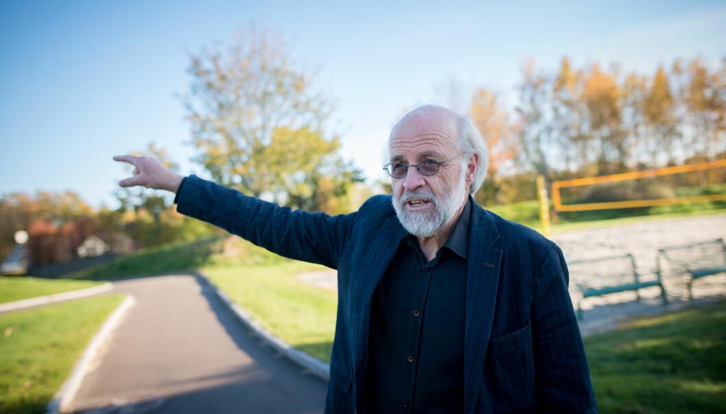 Rektor ved Universitetet i Sørøst-Norge, Petter Aasen, her på campus Bakkenteigen (mellom Horten og Tønsberg), ønsker å innføre hurtigtesting ved USN etter modell fra Oslo.