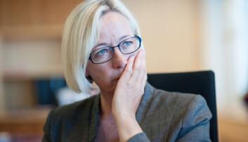 Senterpartiets Marit Arnstad signaliserer at også hennes parti går mot et forslag om å kutte direktoratene i sitt alternative statsbudsjett.