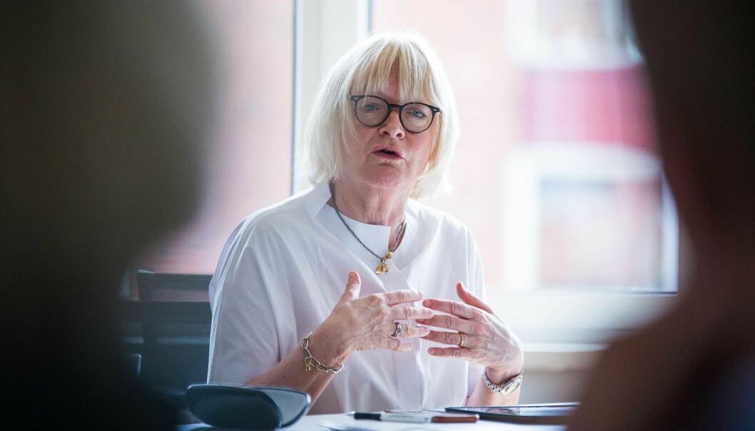Rektor Berit Rokne fikk med seg styret på å bruke inntil 50 millioner kroner, i håp om å klare kravene for å bli universitet.