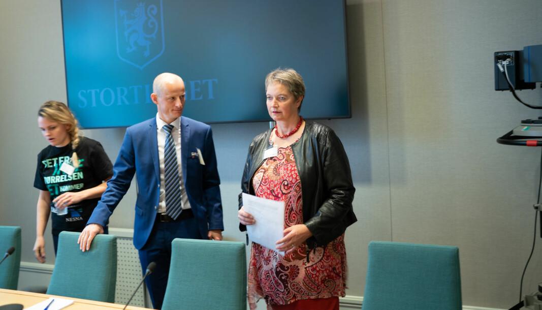 — Denne omstillingen er vanskelig for de ansatte, sier rektor ved Nord universitet, Hanne Solheim Hansen. Illustrasjonsbilde fra da det var høring om saken på Stortinget.