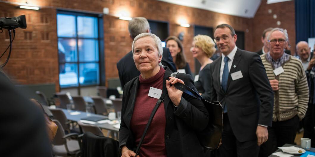 — Vi håper komiteen og Nokut vil konkludere med at vi holder nivået til de nylig akkrediterte universitetene i Norge, sier rektor ved Høgskolen i Innlandet, Kathrine Skretting. Foto: Skjalg Bøhmer Vold