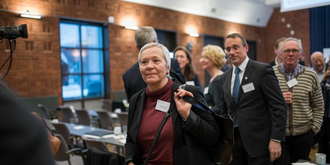 Rektor på Høgskolen i Innlandet Kathrine Skretting under Kontaktkonferansen.