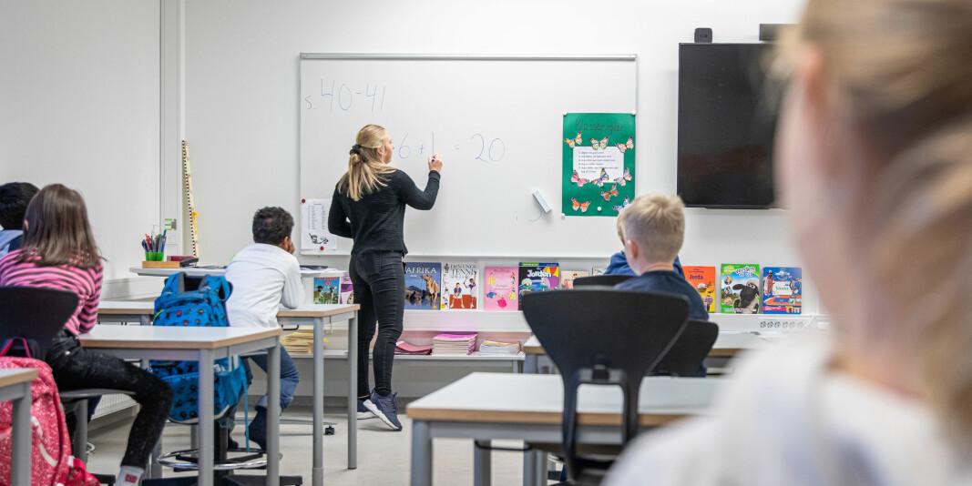 Det er en stor utfordring at landsdelen mangler lærere , spesielt på 1.-7. trinn, skriver rektor Anne Husebekk og dekan Sonni Olsen ved UiT.