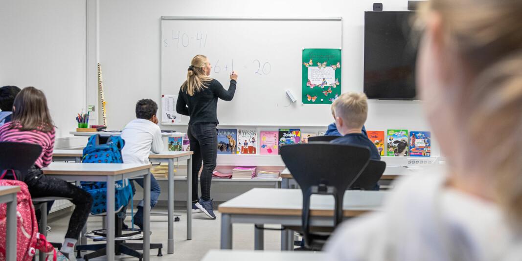 Førsteamanuensis Hege Hermansen har flere synspunkter som hun håper evalueringskomiteen i Nokut vil ta i betraktning. Bildet viser en praksisstudent fra 3. året på lærerutdanningen trinn 1-7 på OsloMet, som underviser klasse 2A på Rykinn skole.