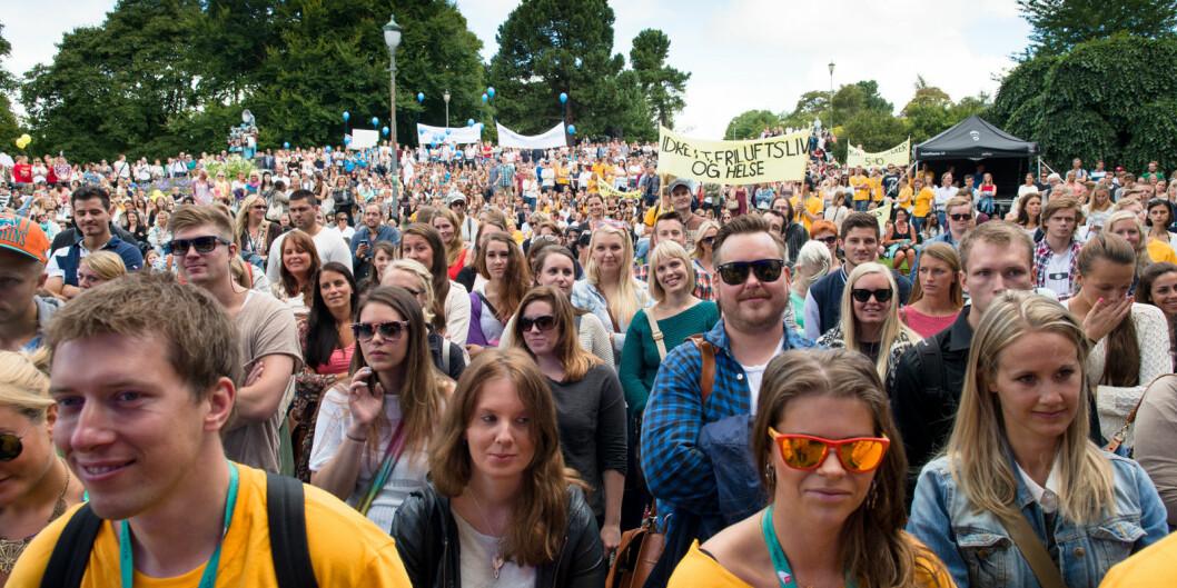65.000 norske studenter har fått tilbud om å svare på studiebarometeret. Foto: Skjalg Bøhmer Vold