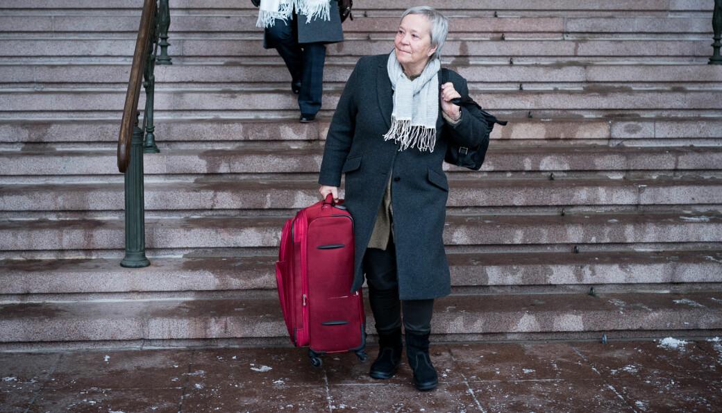 Rektor ved Høgksolen i Innlandet,Kathrine Skretting er klar for å flytte ut av rektorkontoret ved høgskolen 1.mai. Bildet er fra Kontaktkonferansen i 2016 da hun ennå
