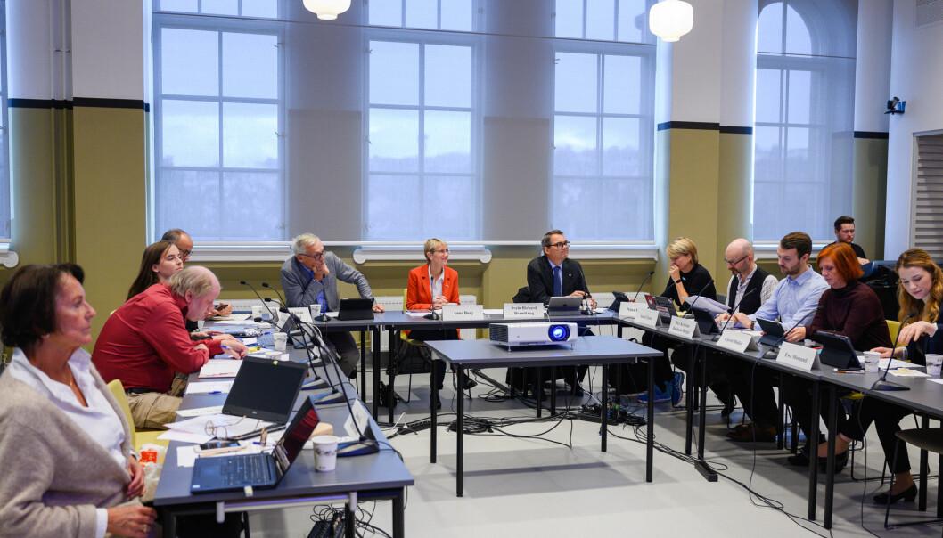 Styremøte på NTNU før pandemien gjorde slike møter digitale. Fra høsten skal NTNU ha nytt styre, men valgresultatet for alle gruppene er foreløpig ikke klart.
