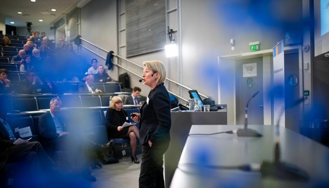 I år er det hele 25 år siden UiT besluttet å opprette et eget senter for kvinne- og kjønnsforskning. Her ser du rektor ved UiT Norges arktiske universitet Anne Husebekk.