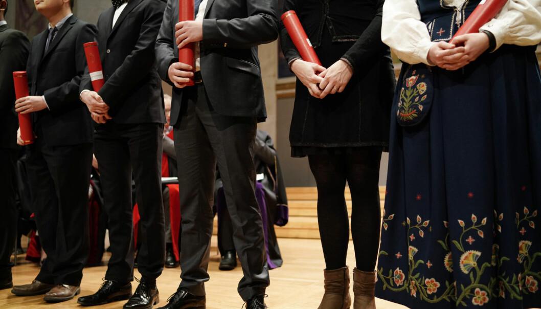 Biletet er frå ei doktorkreering i universitetet sin aula ved Universitetet i Oslo.