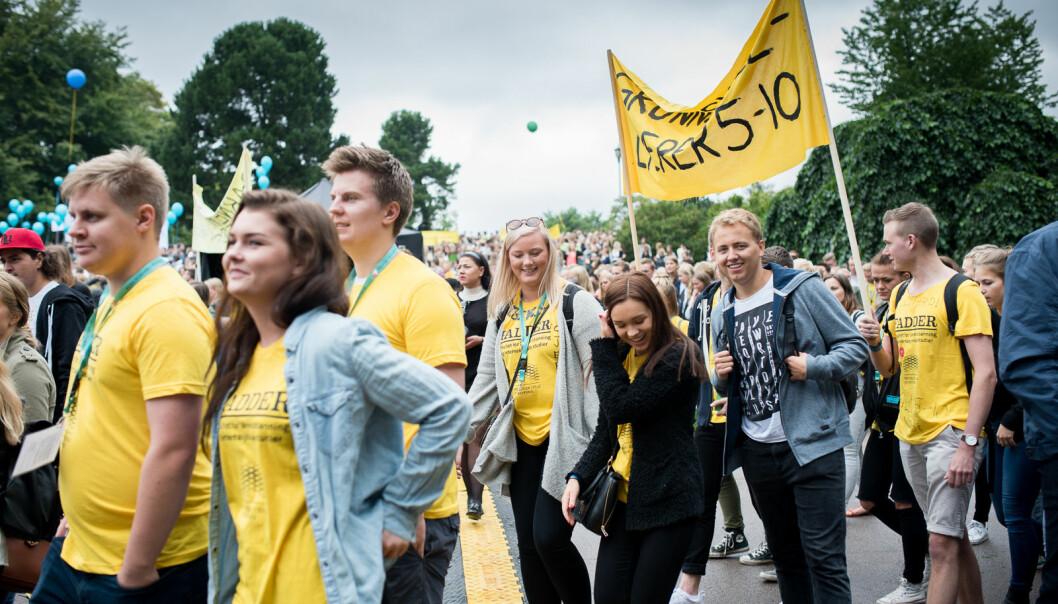 Fra studiestart ved OsloMet (daværende Høgskolen i Oslo og Akershus), studenter som er kommet inn på grunnskolelærerutdanning, trinn 5-10.