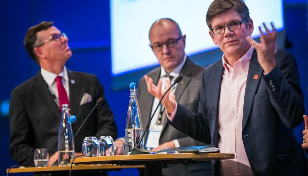 På QS-lista: UiB-rektor Dag Rune Olsen, tidligere NTNU-rektor Gunnar Bovim og UiO-rektor Svein Stølen.