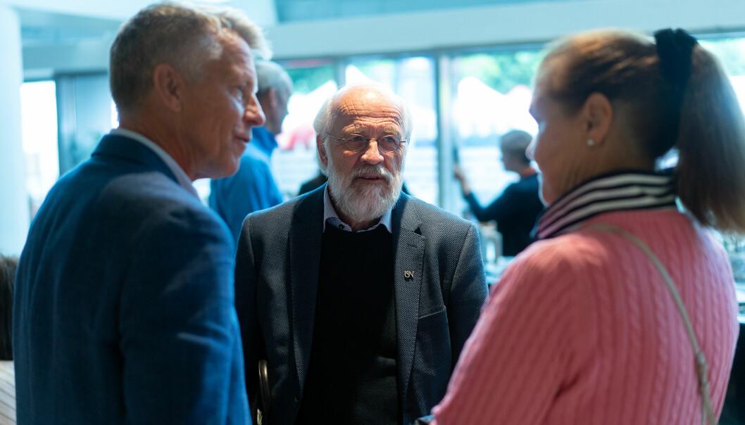 Prorektor Kristian Bogen (t.v.) søker ny periode i ledelsen ved Universitetetet i Sørøst-Norge, denne gangen som viserektor for samhandling. Rektor Petter Aasen (midten) skal sette sammen en ny ledergruppe.