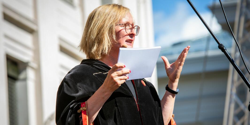 Gro Bjørnerud Mo ønsker nye studenter på Universitetet i Oslo velkommen. UiO har mange søkere til sine nysatsinger i studieporteføljen.