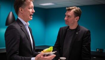 Rektor Curt Rice og statsråd Henrik Asheim ved en tidligere anledning. Foto: Siri Øverland Eriksen