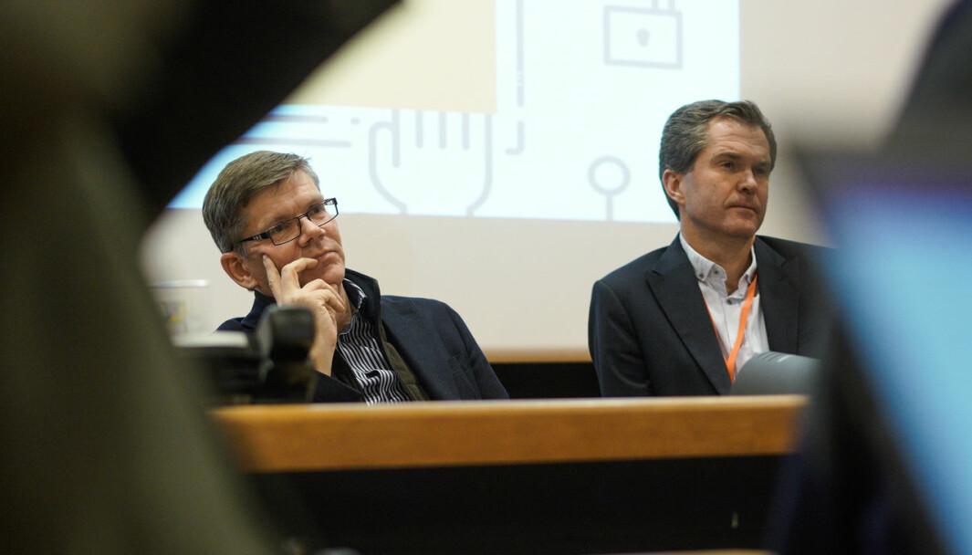 Svein Stølen foreslår å kikke Forskningsrådet, her representert ved tidligere direktør John-Arne Røttingen, nærmere i kortene.