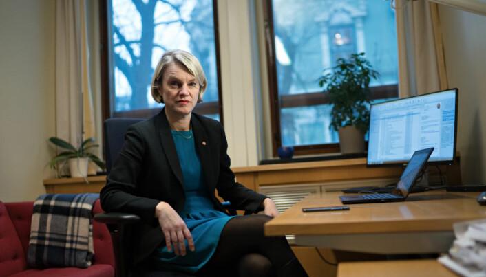 Nina Sandberg, reagrer på SV-kritikk knyttet til studentøkonomi.