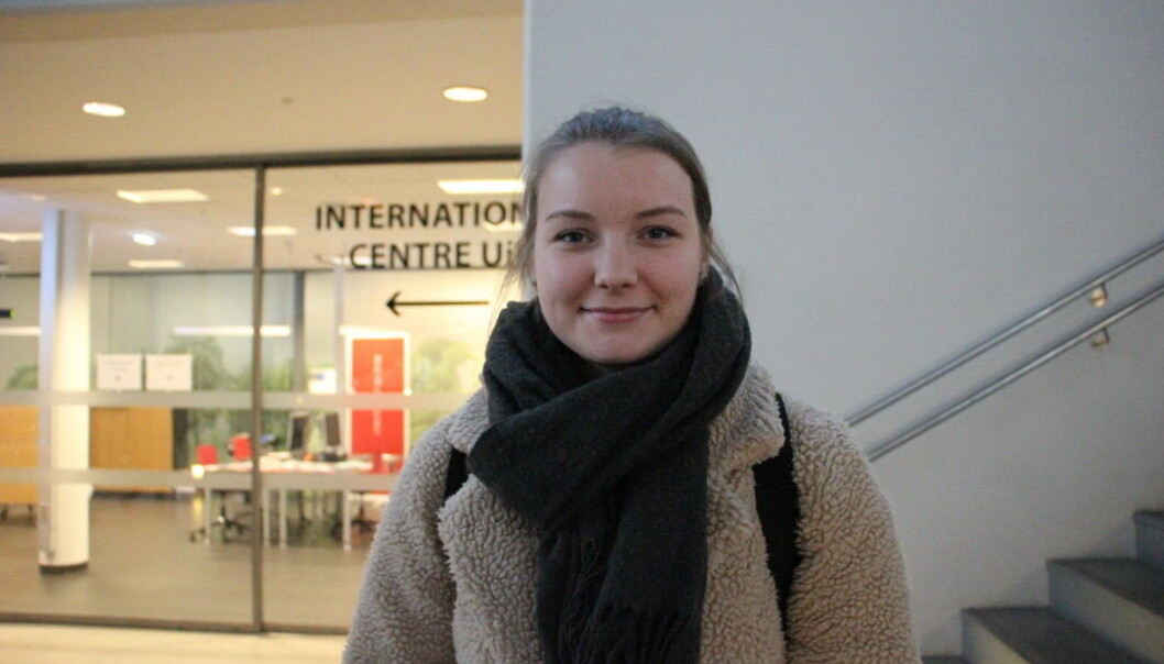 Marte Sortland studerer sosiologi. Foto: Anne Skifjeld