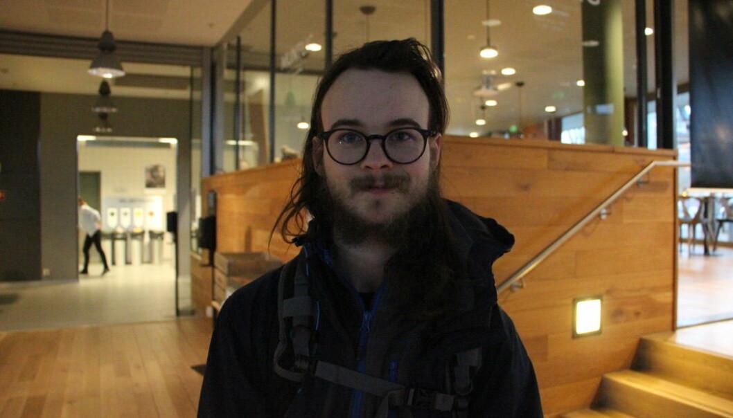Alexander Jansen er student ved Det humanistiske fakultetet. Foto:Anne Skifjeld