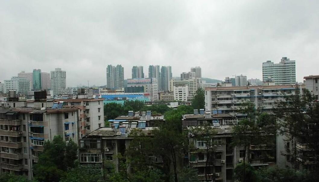 Storbyen Wuhan i Hubei-provinsen i Kina.