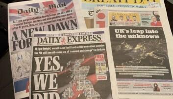 Et knippe av dagens avisforsider.