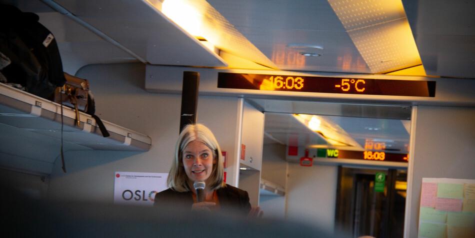 Førsteamanuensis ved Universitetet i Oslo, Anne Kveim Lie, mener klimatiltakene universitet- og høgskolesektoren har satt igang også må føre til drastiske endringer i rammevilkårene for forskere. Foto: Mats Arnesen
