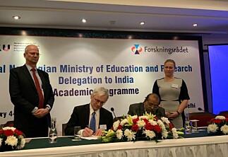 Norge og India inngår forskningsavtaler