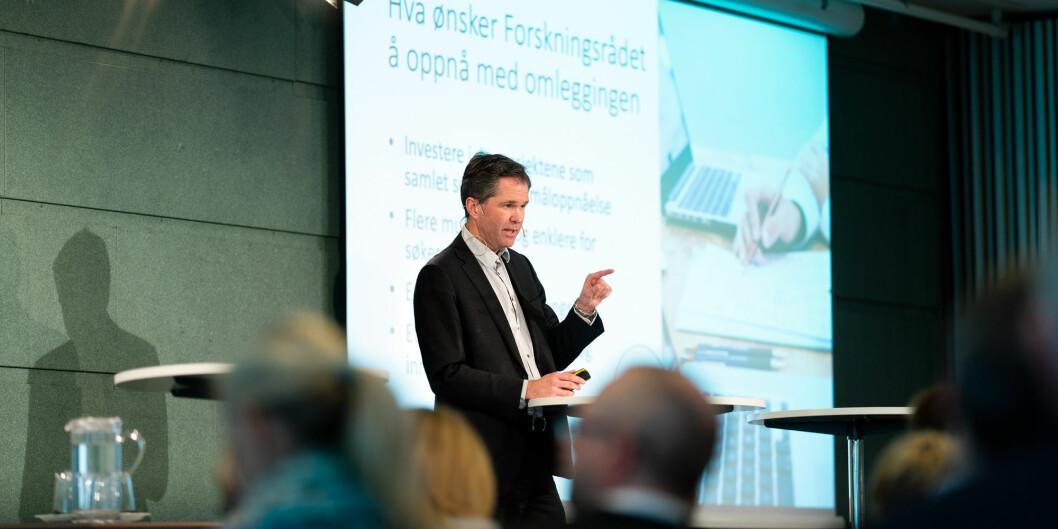 Forskningsrådet, her ved direktør John-Arne Røttingen, har bedt om kommentarer til sin nye forskningsstrategi. Foto: Ketil Blom Haugstulen