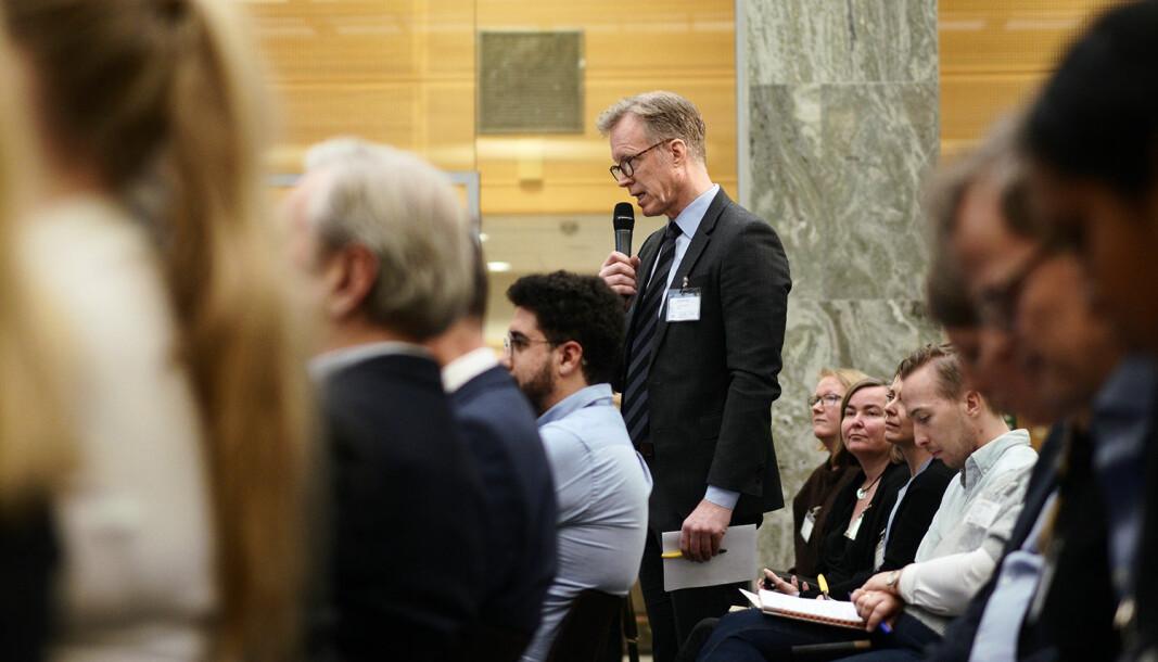 Rektor ved OsloMet, Curt Rice, trekker frem tre områder det haster å få til endring på og som han ber Stortinget se på i sin behandling av styringsmeldingen.