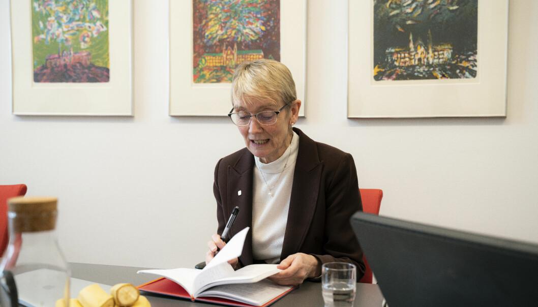 Anne Borg, rektor ved NTNU, melder om digital undervisning som hovedregel høsten 2020.