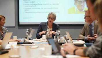 Styremøte ved OsloMet og styreleder Trine Syvertsen.