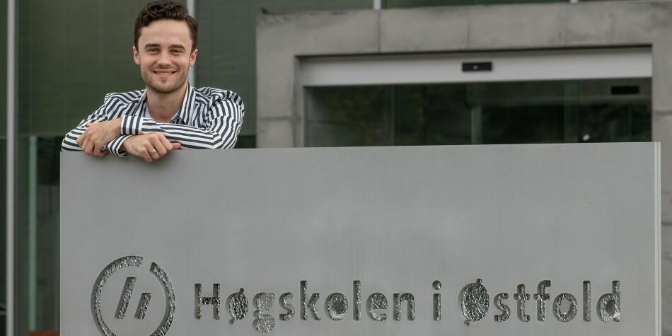 Preben Reinaas Rotlid flyttet fra Molder til Halden for å bli student. Han snakker varmt om samarbeidet mellom studentene og kommunen.