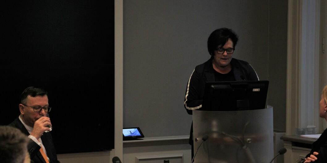 Redaktør Tove Lie var på plass i styremøte for å fortelle hvorfor hun ønsker at Universitetet i Bergen skulle ta tilbake På Høyden. FOTO: Jan Willie Olsen