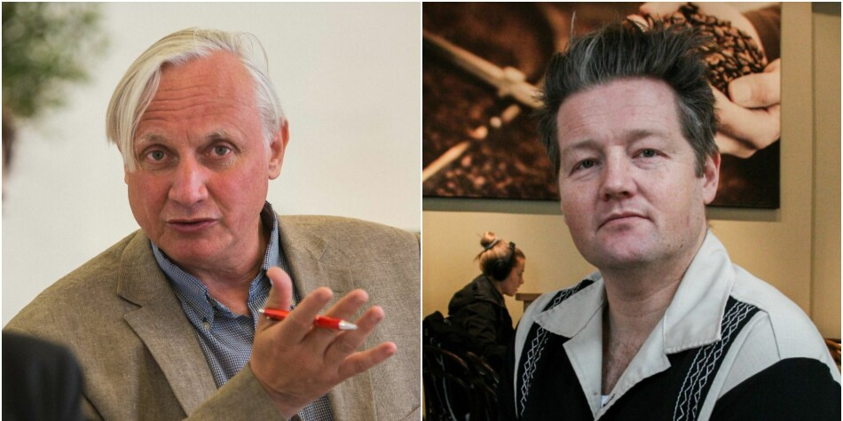 Kristian Gundersen (t.v.) og Simon Malkenes er begge i stuss over mandatet til den nye Ytringsfridomskommisjonen. Foto: Siri Øverland Eriksen/Ragnhild Vartdal