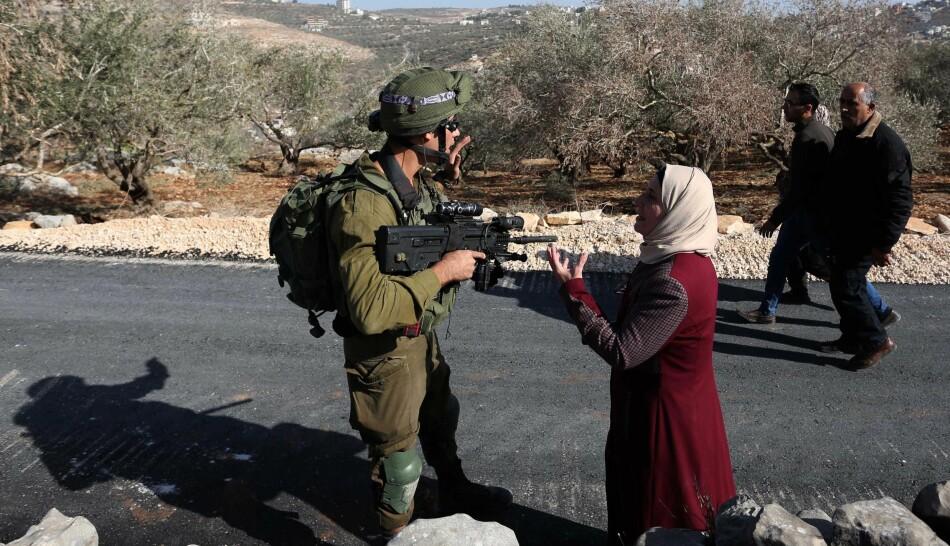 Noreg er blant landa som ikkje anerkjenner den israelske okkupasjonen av palestinske område. Samstundes driv statens reisebyrå forretningar i områda, ifølgje FN-rapport. Bildet er frå Vestbreidda i 2019. Foto: Shadi Jarar'ah/Zuma Press/Scanpix