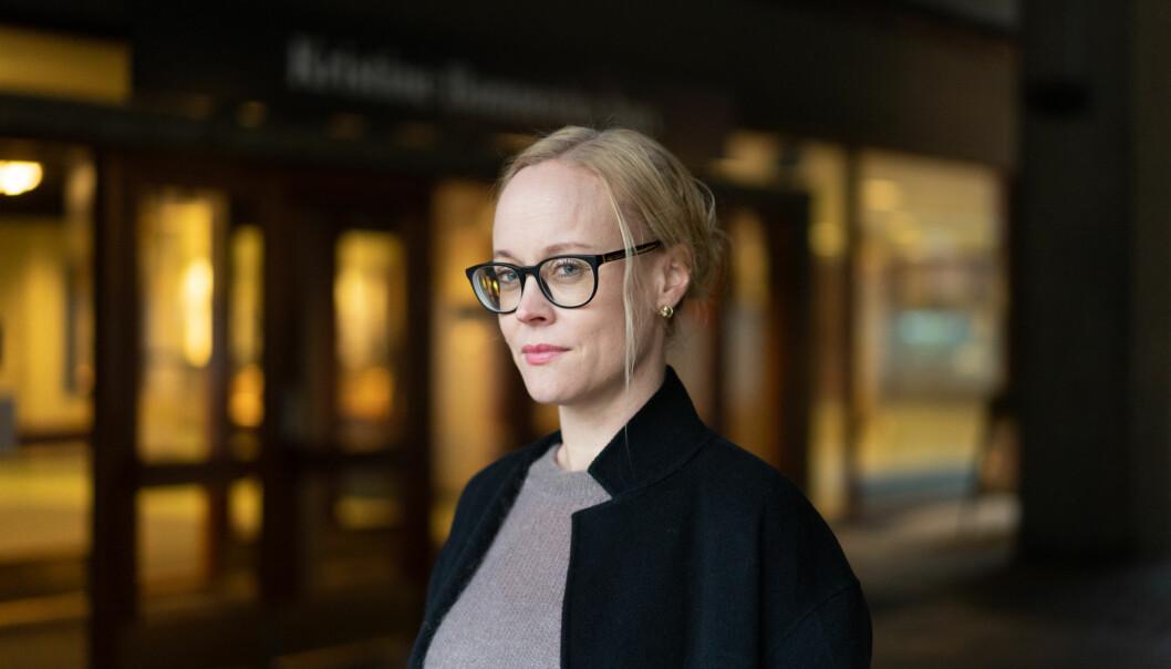 Ingrid Lossius Falkum seier det var svært mykje arbeid med ERC-søknaden. No har ho fått eksterne midlar for dei fire neste åra.