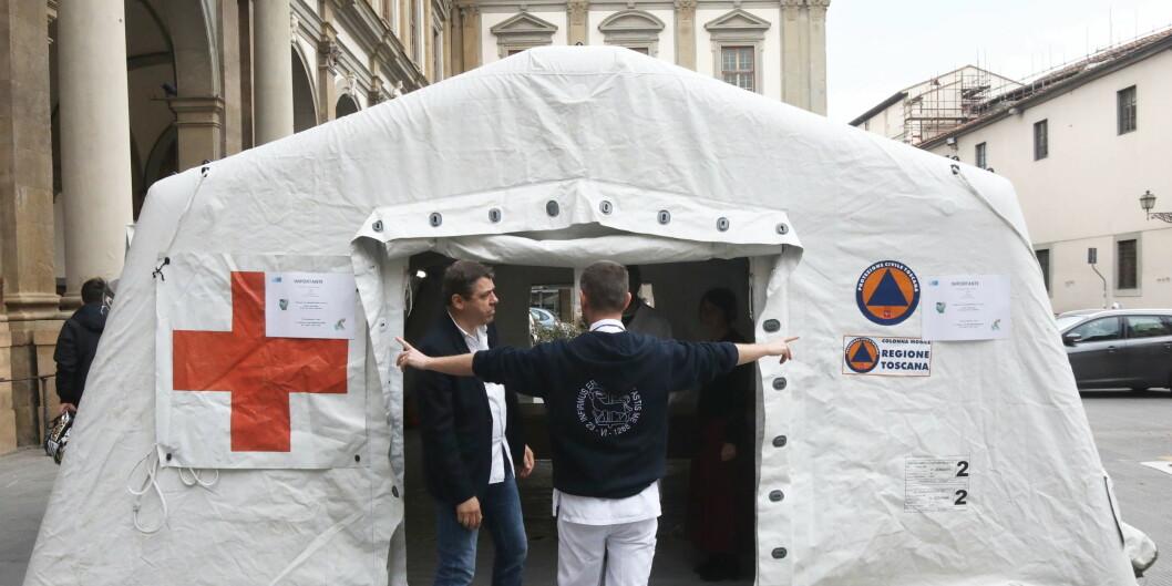 Den norske studenten skal være lagt inn på dette sykehsuet i Firenze i Italia. Foto: EPA/CLAUDIO GIOVANNINI