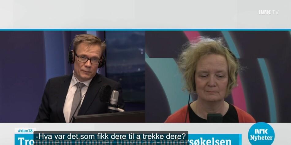 Artikkelforfatterne problematiserer hva undersøkelser som Ungdata faktisk kartlegger, og verdien av dette. Foto: Skjermdump fra NRKs Dagsnytt 18, 26.02.20