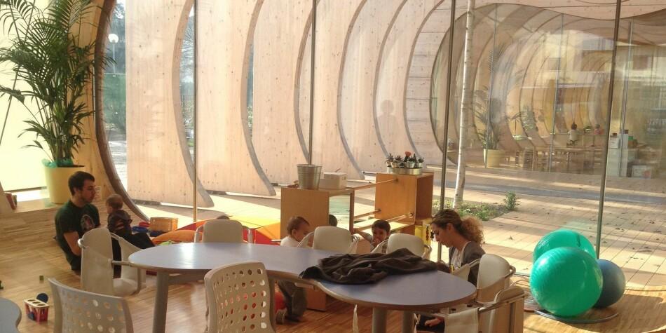 Universitetet i Sørøst-Norge har sendt studenter til denne barnehagen i Guastalla i Italia. Foto: USN