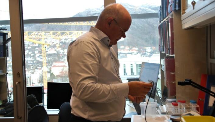 I denne lille kroken har Berge funnet sitt eget kontor.