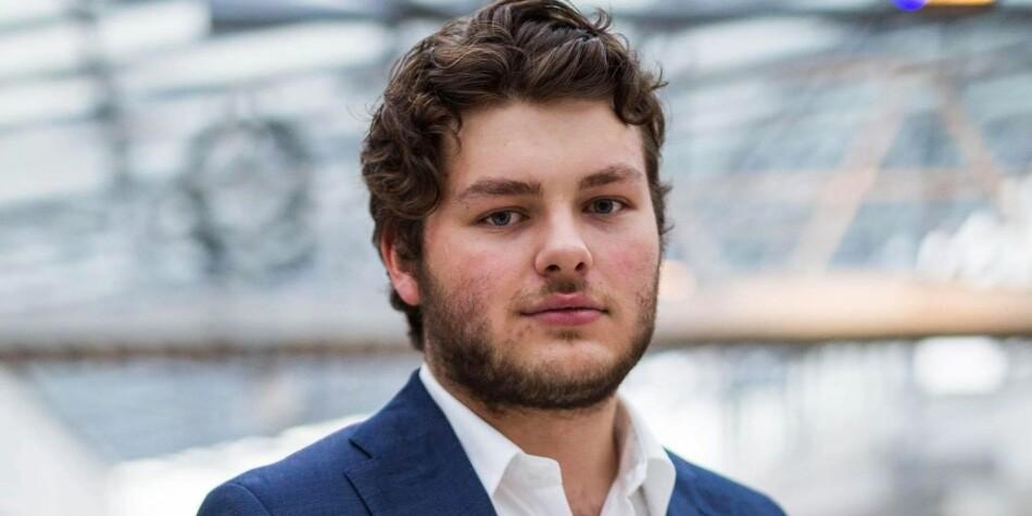Leder for BI Studentorganisasjon, Jonas Økland, stiller til valg. Foto: SBIO