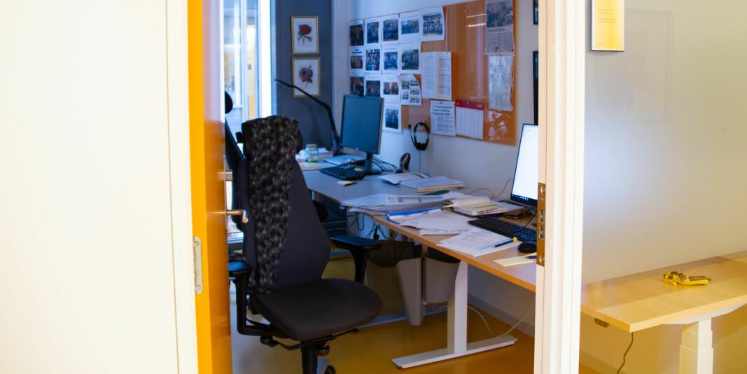Kontor for en er foreslått å bli kontor for to i Pilestredet 32. Foto: Anne Skifjeld